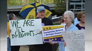 Blunt immigration protest