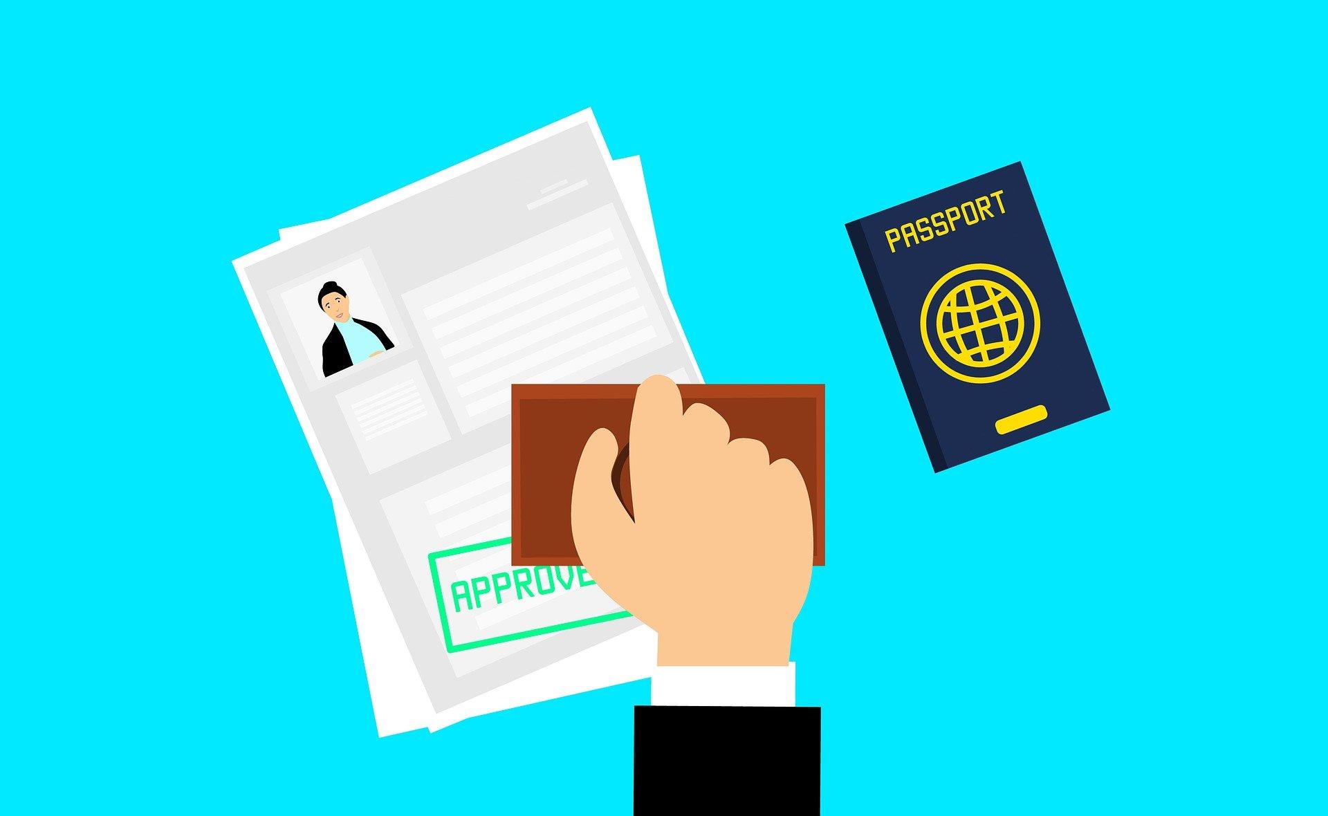 stamp approving visa